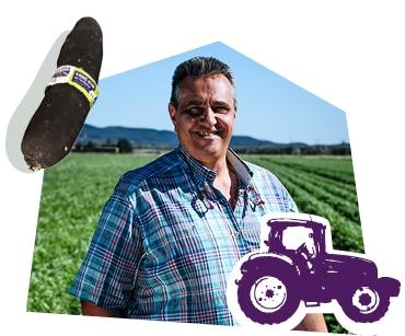 Portrait d'un producteur de radis noirs dans son champ